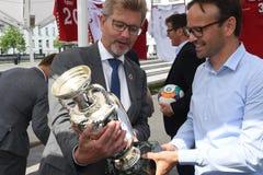 Fanzone officiel EURO2020 de pas d'inaugurattion images stock