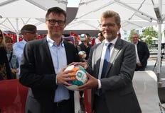 Fanzone officiel EURO2020 de pas d'inaugurattion image stock