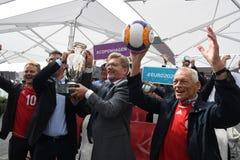 Fanzone officiel EURO2020 de pas d'inaugurattion photos stock