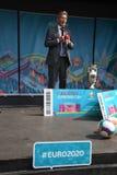 Fanzone officiel EURO2020 de pas d'inaugurattion photo libre de droits