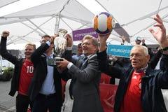 Fanzone officiel EURO2020 de pas d'inaugurattion photographie stock libre de droits
