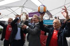 Fanzone officiel EURO2020 de pas d'inaugurattion photo stock