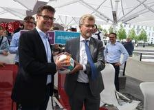 Fanzone officiel EURO2020 de pas d'inaugurattion photographie stock