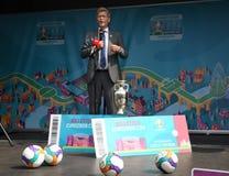 Fanzone officiel EURO2020 de pas d'inaugurattion photos libres de droits