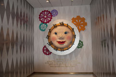 FAO Schwarz clock. At the greeting entrance to the FAO Schwarz famous NY toy store Royalty Free Stock Photography
