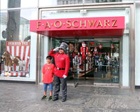 FAO Schwarz. The oldest toy store in USA, founded in 1862 is scheduled to close on July 15th.2015. The store is known for life-sized stuffed animals, dolls Stock Image