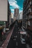 faous修造的Banespão的遥远的看法,在São保罗,胸罩 免版税图库摄影