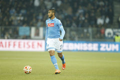 Faouzi Ghoulam Young Boys Berne v FC Naples Liga Europa Royalty Free Stock Image