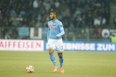 Faouzi Ghoulam Young Boys Berne v FC Naples Liga Europa Royalty Free Stock Images
