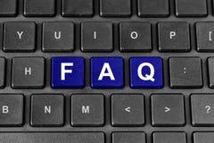 FAQ ή συχνά ρωτημένη λέξη ερωτήσεων στο πληκτρολόγιο Στοκ φωτογραφία με δικαίωμα ελεύθερης χρήσης