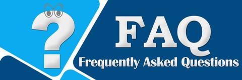 FAQ - Συχνά ερωτήσεις δύο μπλε τετράγωνα διανυσματική απεικόνιση
