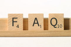 faq συχνά ερωτήσεις Στοκ Εικόνα