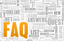FAQ. Or Frequently Asked Questions Online Art stock illustration
