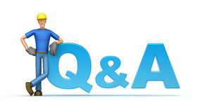 FAQ. Illustration of an abstract character on a white background for use in presentations, etc Stock Photography