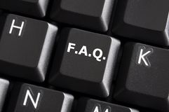 faq Royaltyfri Foto