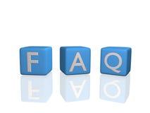 FAQ Fotografia de Stock Royalty Free