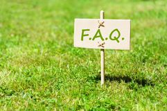 Faq. Concept with word on nature still life stock photo