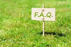 FAQ Stockfoto