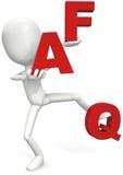 FAQ Fotografia Stock Libera da Diritti