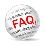 Faq. Illustration ball with inscription faq, on a white background vector illustration