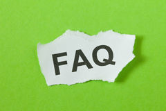 FAQ Royalty Free Stock Photos