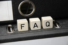 FAQ Stock Fotografie