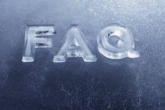 FAQ Imagem de Stock Royalty Free