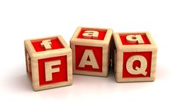 FAQ Photographie stock