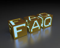 FAQ Foto de Stock Royalty Free