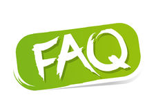 FAQ. Button illustration on white background vector illustration