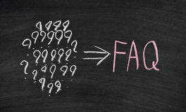 FAQ Imagen de archivo