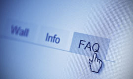 FAQ. Search FAQ button in browser royalty free stock photo