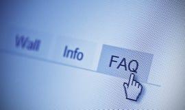 FAQ lizenzfreies stockfoto