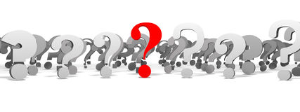 FAQ. Frequently Asked Questions. Red question mark Royalty Free Stock Photography