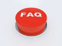 Faq. Hi res rendering faq button stock illustration