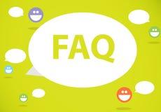 FAQ Στοκ εικόνα με δικαίωμα ελεύθερης χρήσης