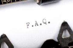 FAQ Photos stock