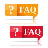FAQ Lizenzfreies Stockbild