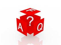 FAQ 3d übertragen Abbildung Lizenzfreie Stockbilder