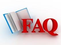 FAQ. 3d Stockfotos