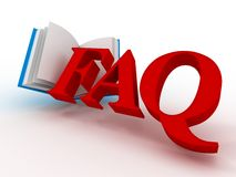 Faq. 3d Royalty Free Stock Image