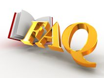 FAQ. 3d Immagine Stock