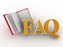 Faq. 3d. Faq on white background. 3d vector illustration