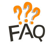 FAQ 3D Concept Royalty Free Stock Images