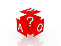 Faq 3d render illustration Royalty Free Stock Images