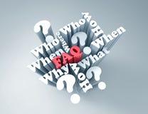 FAQ illustration de vecteur