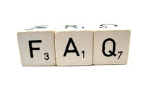 FAQ Immagine Stock