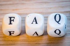 FAQ Zdjęcie Royalty Free