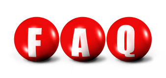 FAQ. Written in a 3d spheres Royalty Free Stock Images