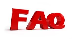 FAQ Photographie stock libre de droits